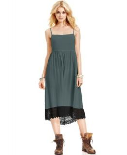 Free People Sleeveless Scoop Neck Lace A Line Dress   Dresses   Women