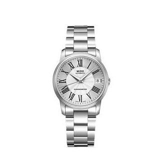 Mido M0102081103300 Watch Baroncelli Iii Ladies M010.208.11.033.00 Silver Dial Stainless Steel Case Automatic Movement Watches