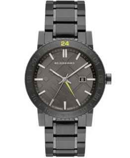 Burberry Watch, Mens Swiss Chronograph Gray Ion Plated Stainless Steel Bracelet 42mm BU9354   Watches   Jewelry & Watches