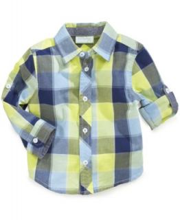 First Impressions Baby Boys Plaid Shirt   Kids