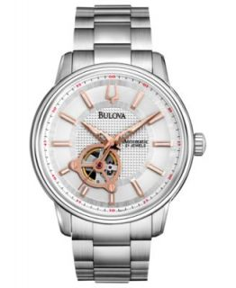 Bulova Mens Automatic BVA Series Stainless Steel Bracelet Watch 42mm 96A118   Watches   Jewelry & Watches