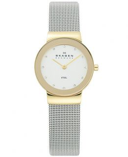 Skagen Denmark Watch, Womens Stainless Steel Mesh Bracelet 26mm 358SGSCD   Watches   Jewelry & Watches