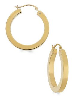 Signature Gold� Square Tube Hoop Earrings in 14k Gold   Earrings   Jewelry & Watches