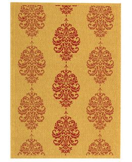 MANUFACTURERS CLOSEOUT Safavieh Area Rug, Courtyard Indoor/Outdoor CY2720 Natural/Red 7 10 x 11   Rugs