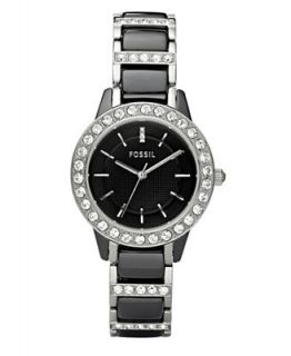 Fossil Womens Jesse Stainless Steel and Black Ceramic Bracelet Watch 34mm CE1018   Watches   Jewelry & Watches