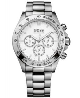 Hugo Boss Watch, Mens Stainless Steel Bracelet 46mm 1512889   Watches   Jewelry & Watches