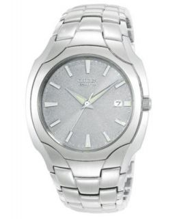 Citizen Mens Eco Drive Stainless Steel Bracelet Watch 40mm BM6060 57F   Watches   Jewelry & Watches