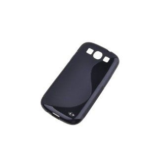 BestDealUSA Cute Black S Line S Curve Wave TPU Case for Samsung Galaxy S3 i9300 SIII S III 3 Cell Phones & Accessories