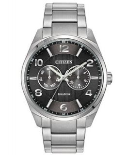 Citizen Mens Eco Drive Stainless Steel Bracelet Watch 42mm AO9020 17H   Watches   Jewelry & Watches