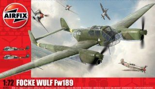 Airfix A03053 172 Scale Focke Wulf Fw 189 Military Aircraft Classic Kit Series 3 Toys & Games