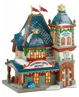 Department 56 North Pole Village   Northern Lights Depot Collectible Figurine   Holiday Lane