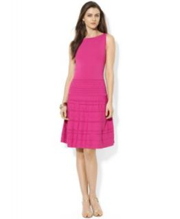 Lauren Ralph Lauren Petite Sleeveless Belted Handkerchief Hem Dress   Dresses   Women