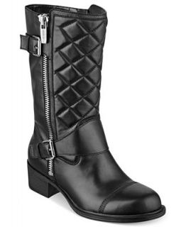 Marc Fisher Hansel Quilted Boots   Shoes