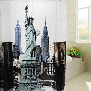 180cmx180cm Shower Curtain Thickening Waterproof Modern the Statue of Liberty PVC Bathroom Curtain