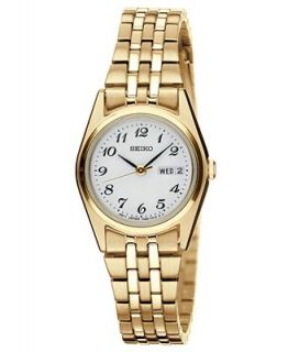 Seiko Watch, Womens Gold Tone Stainless Steel Bracelet 25mm SXA126   Watches   Jewelry & Watches