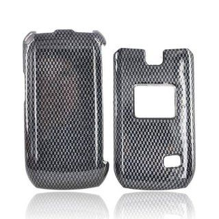 BLACK CARBON FIBER For LG MN180 Hard Plastic Case Cover Cell Phones & Accessories