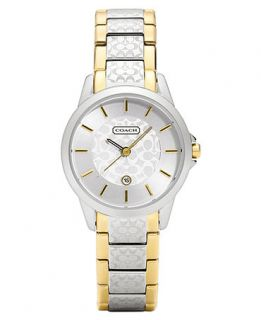 COACH WOMENS CLASSIC SIGNATURE TWO TONE BRACELET WATCH 15MM 14501430   Watches   Jewelry & Watches