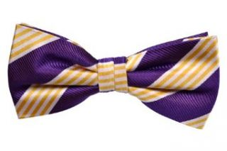 Notch Men's Pre tied Bow Tie TRIPP Purple base with stripes in white and yellow at  Men�s Clothing store