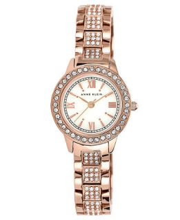 Anne Klein Womens Pave Set Rose Gold Tone Bracelet Watch 26mm AK 1492MPRG   Watches   Jewelry & Watches