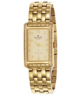 kate spade new york Watch, Womens Cooper Gold Tone Stainless Steel Bracelet 32x21mm 1YRU0036   Watches   Jewelry & Watches