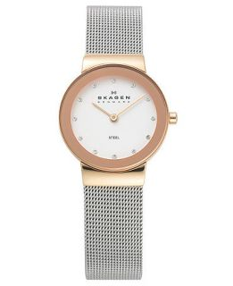 Skagen Denmark Watch, Womens Stainless Steel Mesh Bracelet 358SRSC   Watches   Jewelry & Watches