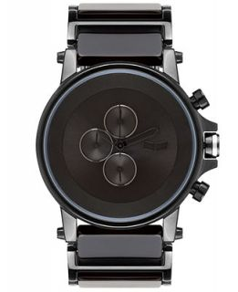 Vestal Watch, Unisex Chronograph Black Acetate and Stainless Steel Bracelet 49mm PLA017   Watches   Jewelry & Watches