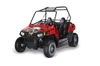 AMR Racing Polaris RZR 170 Bone Collector   Red Youth Model UTV Graphics Kit Automotive