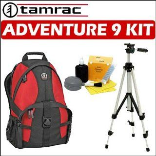 Tamrac Adventure 9 (5549) Photo/Computer Backpack (Red/Black) + Accessory Kit Electronics