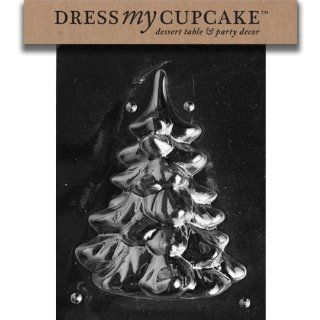 Dress My Cupcake DMCC169A Chocolate Candy Mold, Medium/Large Tree Piece 1, Christmas Kitchen & Dining