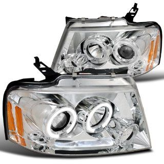 Ford F150 Chrome Clear Led Halo Projector Headlights Automotive