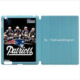 Wake/Sleep Stand Designer iPad 2 & iPad 3 smart case with NFL New England Patriots team logo for fans by padcaseskingdom Computers & Accessories
