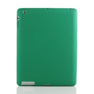 Dark Green / Silicon Case Cover for Apple iPad 3/The New iPad +Free Screen Protector (7265 13) Computers & Accessories