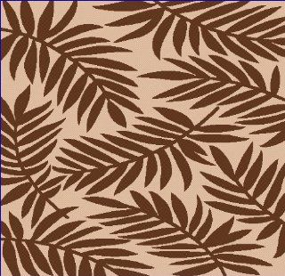 8'x11' Indoor Outdoor Rug, Beige, Brown, Patio Pool Rug, Leaves   Machine Made Rugs