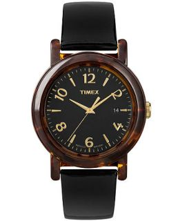 Timex Watch, Womens Premium Originals Black Patent Leather Strap 40mm T2P238AB   Watches   Jewelry & Watches