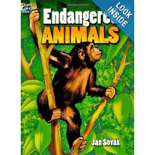 Endangered Animals (Dover Nature Coloring Book) Jan Sovak, Coloring Books 9780486467931 Books