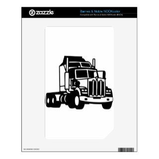 TRUCK semi trailer trucker  american Skins For NOOK Color