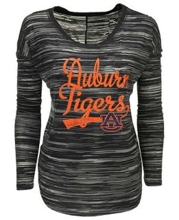 Blue 84 Womens Long Sleeve Auburn Tigers Trouble Burnout Striped Top   Sports Fan Shop By Lids   Men