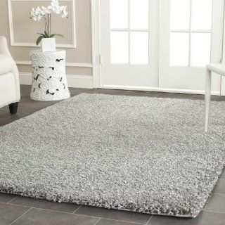 Safavieh Shag Collection SG151 7575 Silver Shag Area Rug, 8 Feet by 10 Feet   Grey Shag Rug
