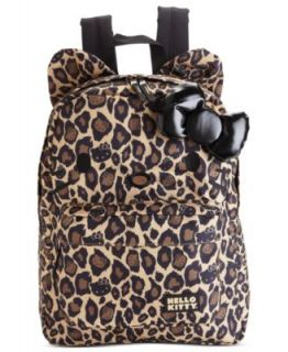 Hello Kitty Leopard Print Backpack   Handbags & Accessories