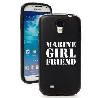 Black Samsung Galaxy S4 S IV i9500 Aluminum & Silicone Hard Back Case Cover KA1110 Marine Girl Friend Cell Phones & Accessories