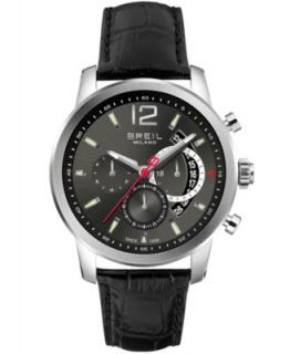 Breil Mens Chronograph Black Carbon Fiber Strap Watch 45mm TW1082   Watches   Jewelry & Watches
