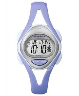 Timex Watch, Womens Digital Ironman 50 Lap Lilac Resin Strap 33mm T5K703UM   Watches   Jewelry & Watches