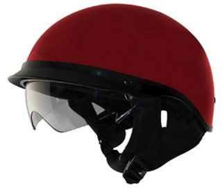Zox Alto DDV Open Face Helmet (Wine Red, Small) Automotive