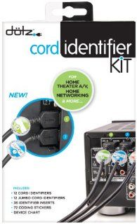 Dotz Home Entertainment Cord Identifier Kit for Cord and Cable Management (DCI131HEK C)  Wire And Cable Organizers