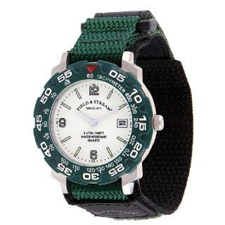 Field & Stream Men's 128GLVG Excursion Green Nylon Strap Watch at  Men's Watch store.