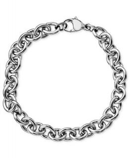 Sterling Silver Bracelet, Link Charm   Bracelets   Jewelry & Watches