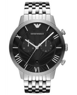 Emporio Armani Watch, Mens Chronograph Stainless Steel Bracelet 46mm AR5988   Watches   Jewelry & Watches