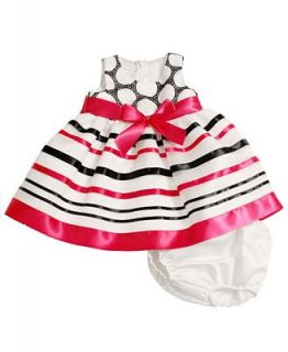 Bonnie Baby Baby Dress, Baby Girls Ribbon and Dot Dress   Kids