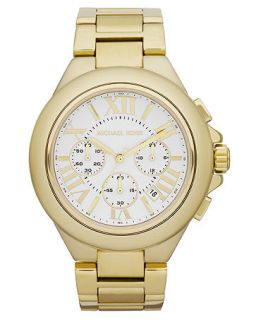 Michael Kors Womens Chronograph Camille Gold Tone Stainless Steel Bracelet Watch 43mm MK5635   Watches   Jewelry & Watches