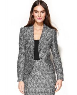 Calvin Klein Petite Jacket, Tweed Blazer   Suits & Separates   Women